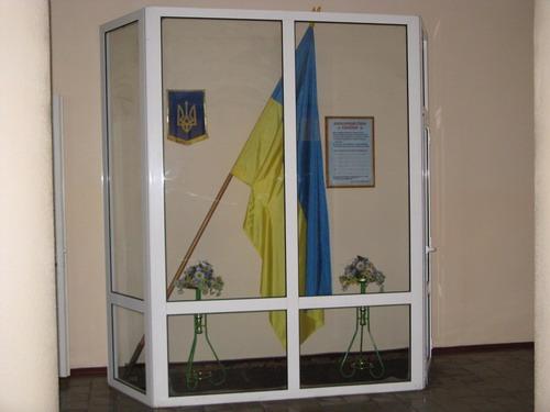 Державні символи України в холі НВК